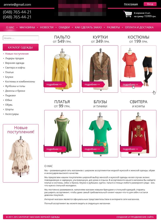 Сайты одежда